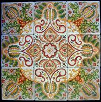 Hand Painted Tiles Ceramic Art by Glenda Stevens