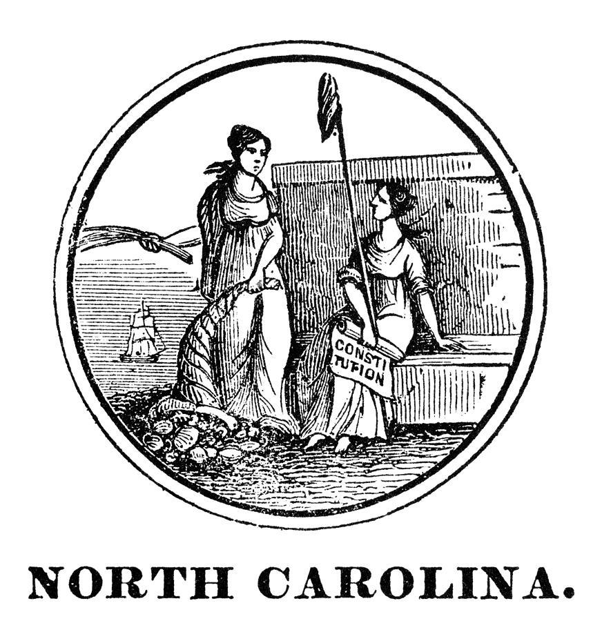 North Carolina State Seal Photograph by Granger