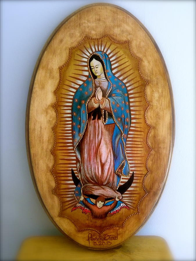 Chargers Iphone Wallpaper Our Lady Of Guadalupe Painting By Fanny Diaz