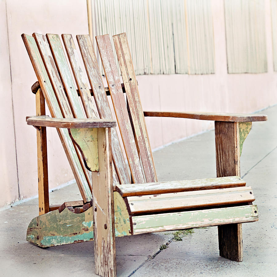 distressed adirondack chairs posture chair desk pastel photograph by angela bonilla muskoka