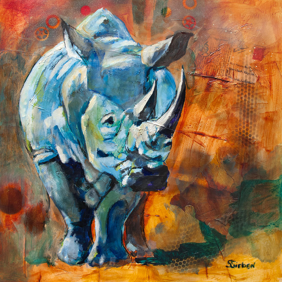 rhino romp by sharon