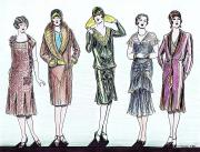 1920s fashions drawing mel thompson