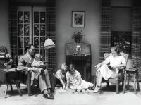 1930s 1940s Family In Living Room Photograph by Vintage Images