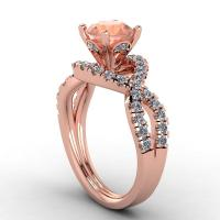 Rose Gold Ring: Rose Gold Ring With Morganite Stone
