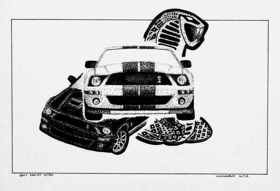 2007 Shelby Gt500 Drawing