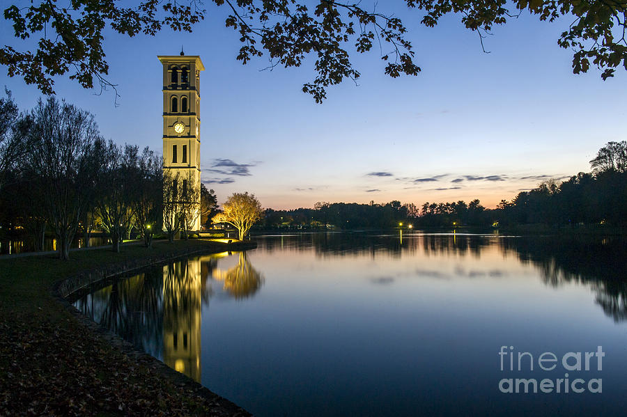 A beautiful view of the lake on Furman University