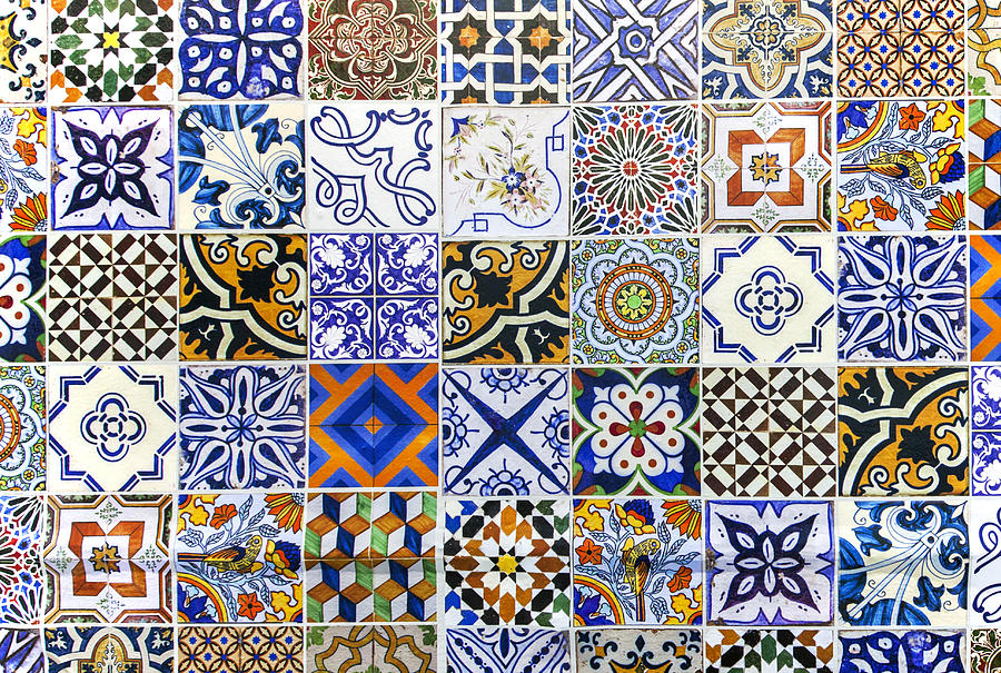 Hand Painted Portuguese Ceramic Tile Photograph by Andre Goncalves
