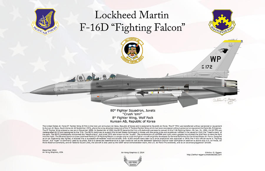 Lockheed Martin F-16d Fighting Falcon Digital Art by