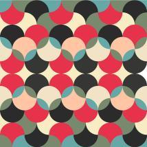Abstract Retro Geometric Pattern 6 Digital Art Atthamee Ni