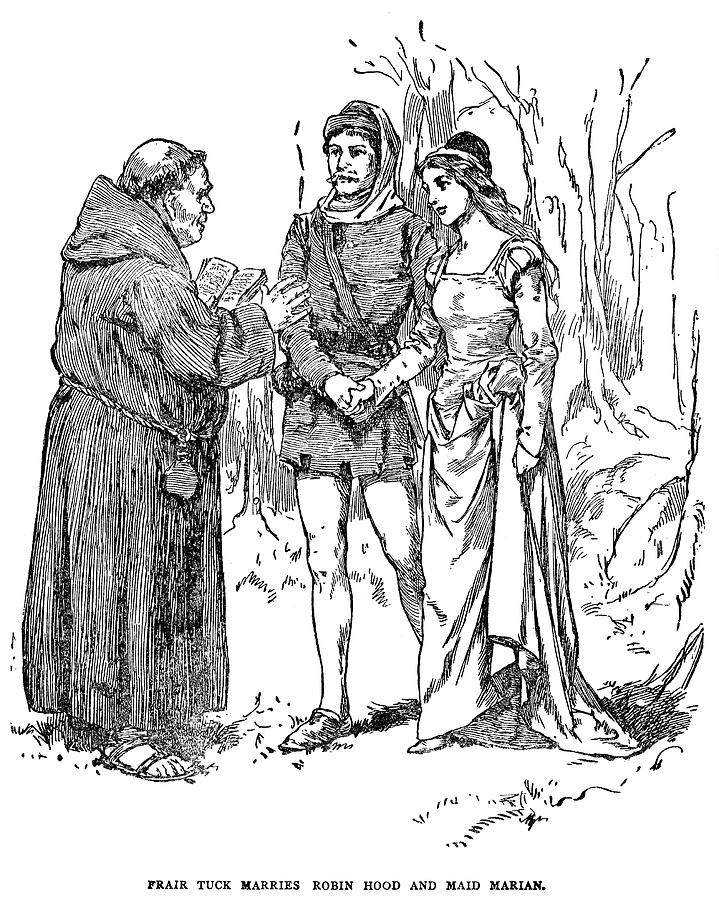 Robin Hood Drawing by Granger