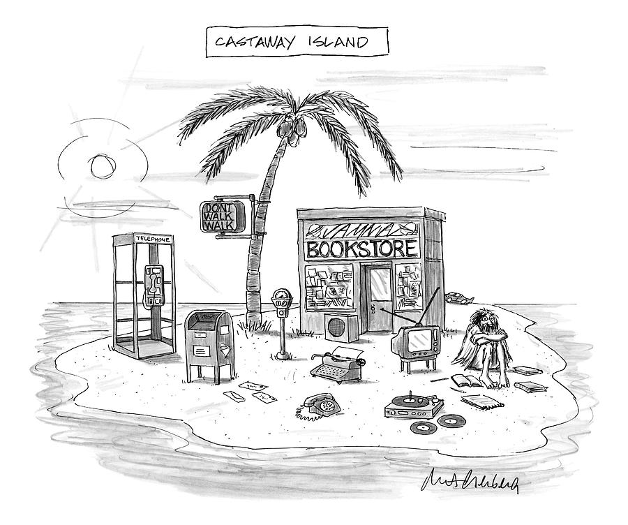 A Desert Island Full Of Outdated And Obsolete Drawing by