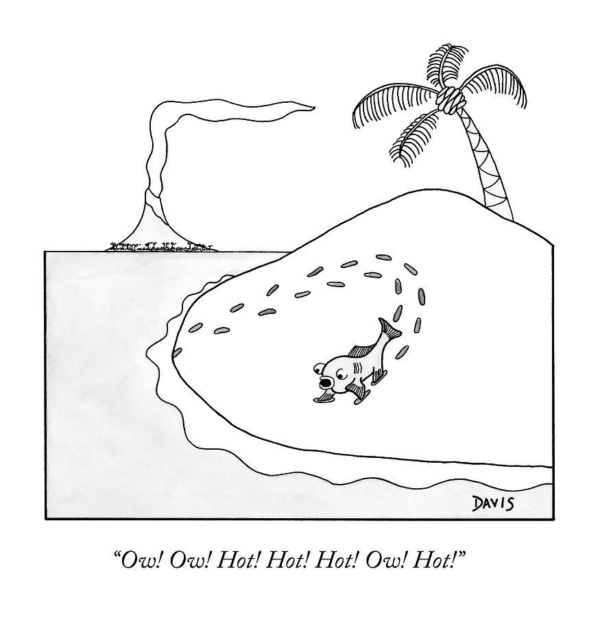 A Fish First Walking On Land Drawing by Matt Stiles Davis