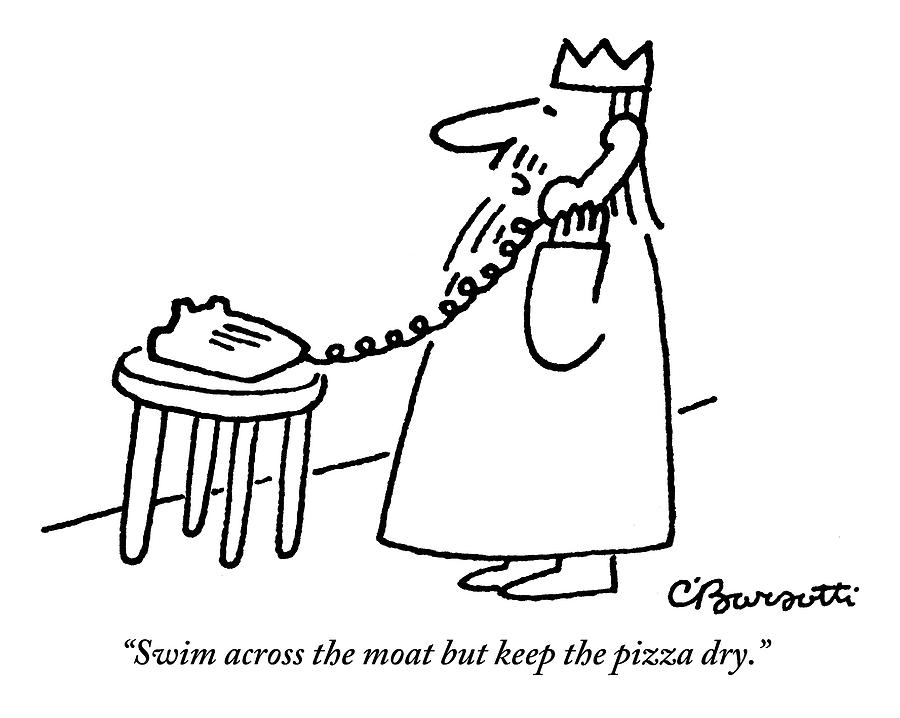 A King Gives Instructions On The Telephone by Charles Barsotti