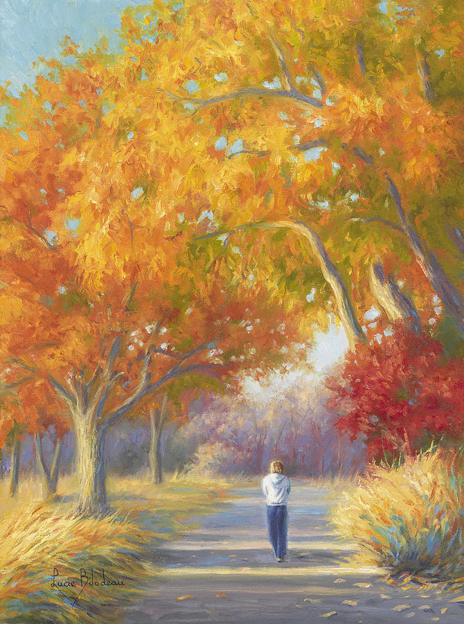 A Walk In The Fall Painting by Lucie Bilodeau