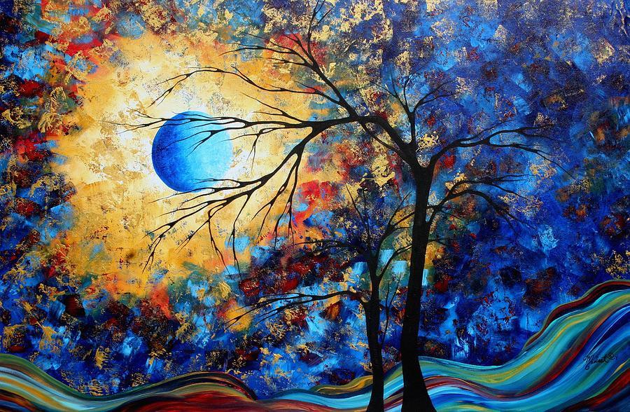 abstract art landscape metallic