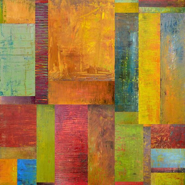 Abstract Color Collage Art