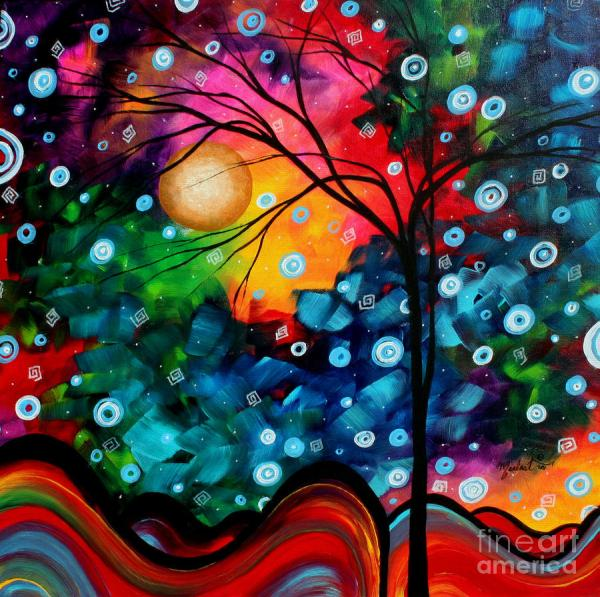 Abstract Landscape Colorful Contemporary Painting Megan Duncanson Brilliance In Sky