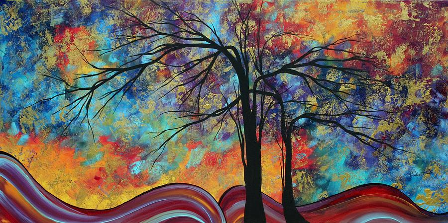 abstract landscape tree art