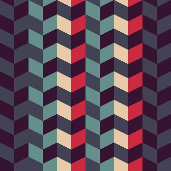 Abstract Retro Geometric Pattern Digital Art Atthamee Ni