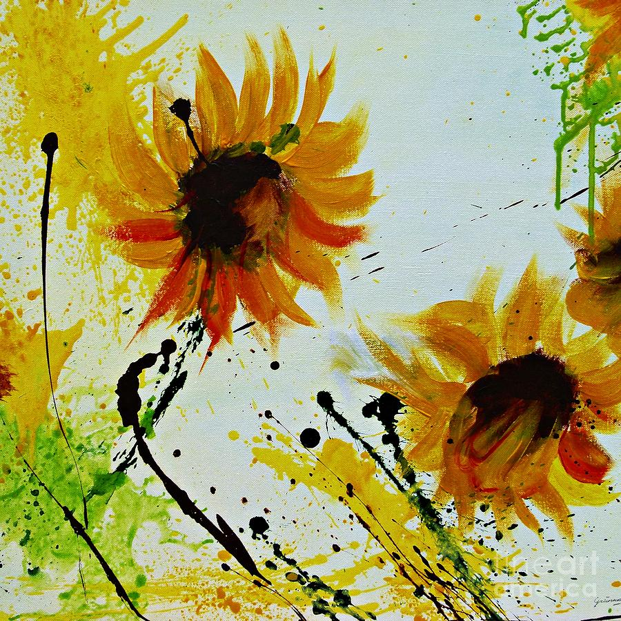 abstract sunflowers 2