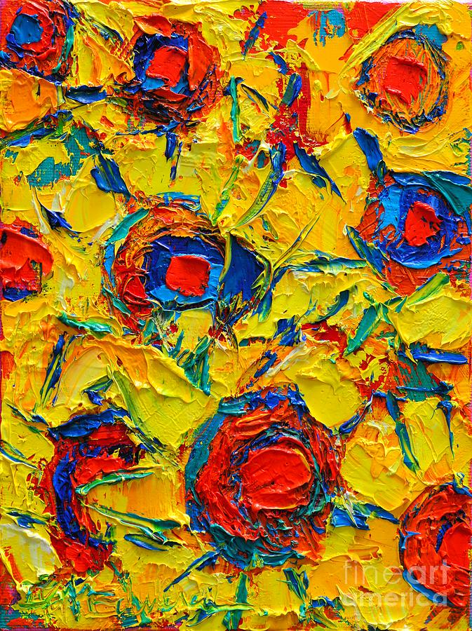 abstract sunflowers by ana