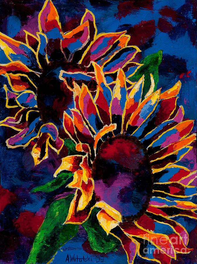 abstract sunflowers by arthur