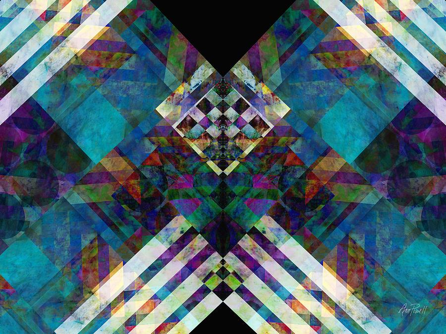 Abstract Symmetry Digital Art by Ann Powell