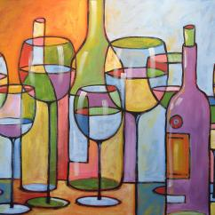 Art For The Kitchen Replacement Drawers Abstract Wine Dining Room Bar Time To Relax Painting