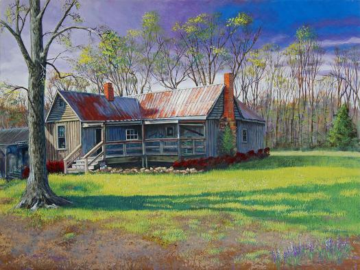 Landscape Painting Alice Walker Homestead By Peter Muzyka