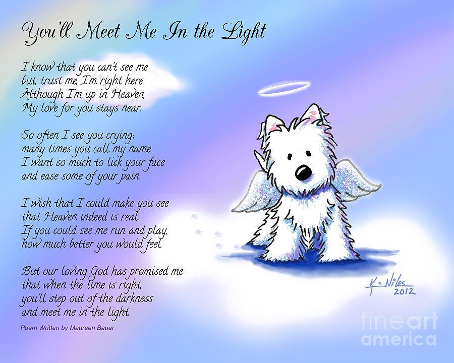 Angel Westie With Poem Digital Art By Kim Niles