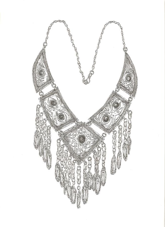 Arabian Necklace Drawing by Gloria Hunter