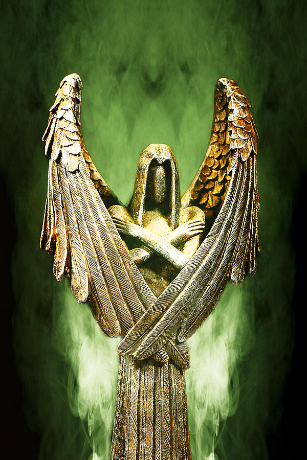 Chargers Iphone Wallpaper Archangel Azrael Photograph By Bill Tiepelman
