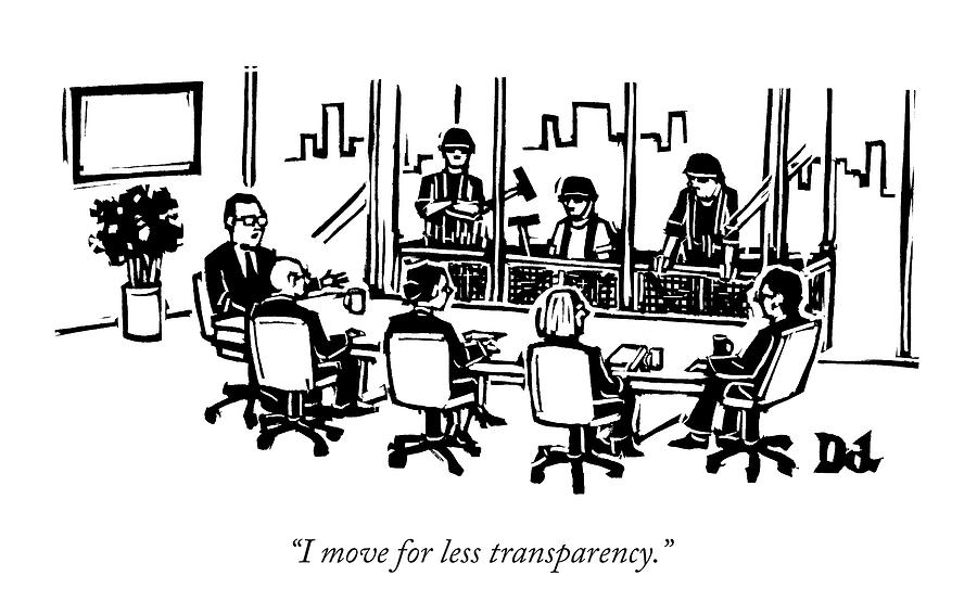 At A Corporate Board Meeting by Drew Dernavich