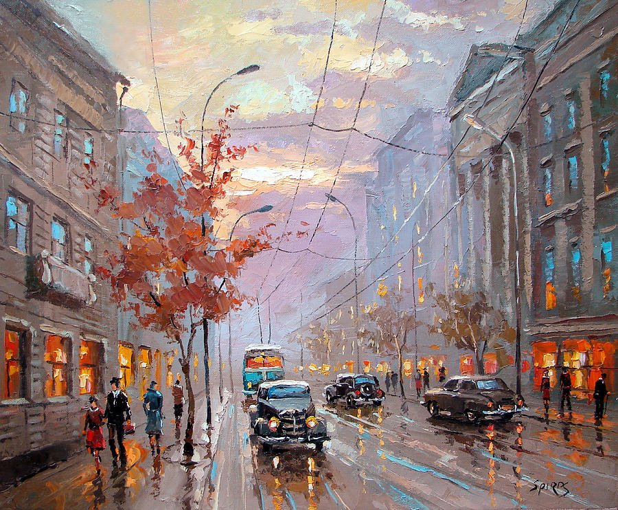 Autumn Rhapsody Painting by Dmitry Spiros