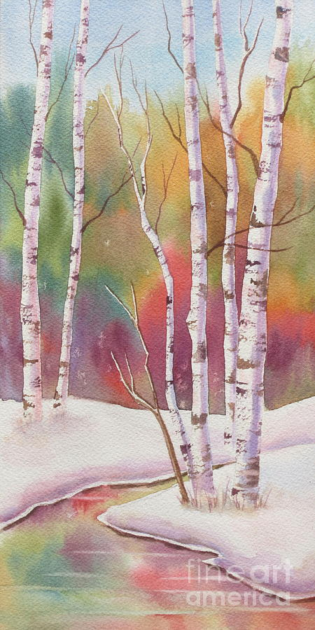 Autumn Snow Painting by Deborah Ronglien