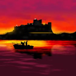 castle bamburgh night digital tanya hall artwork 15th february piece which uploaded