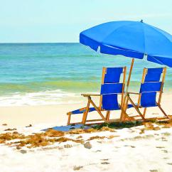 Beach Chairs And Umbrella Shower For Handicap Painting By Elaine Plesser