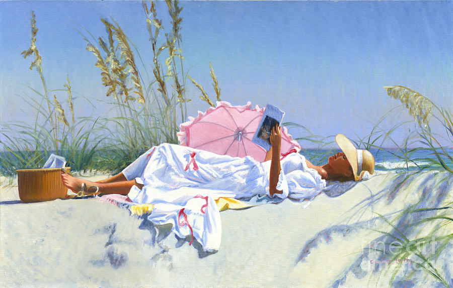 Beach Recliner Painting by Candace Lovely