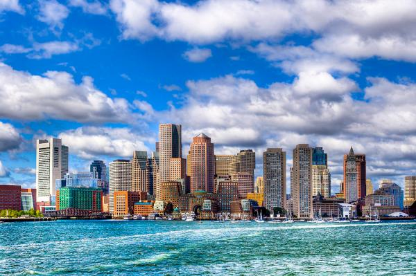 Beautiful Boston Skyline From The Harbor Photograph by