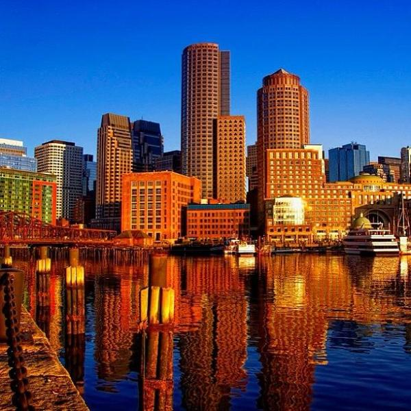 Beautiful Boston Sunrise Shining On The Photograph by