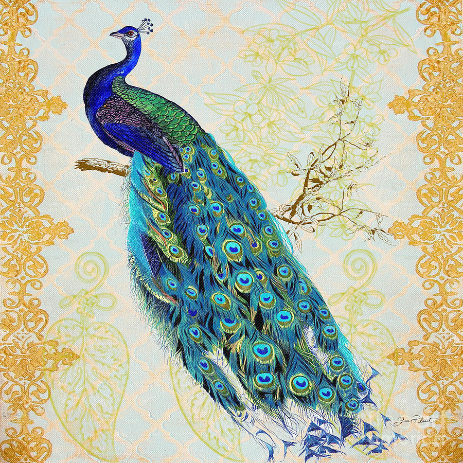 Beautiful Peacock B Painting By Jean Plout