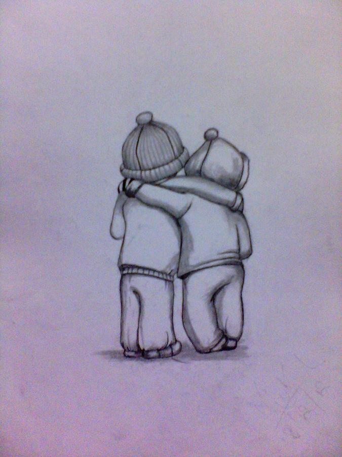 Best Friends Forever Drawing by Mukul Dhankhar