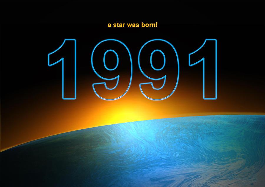 Birth Year 1991 Digital Art By Alexander Drum