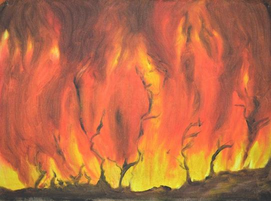 Image result for paintings of fire