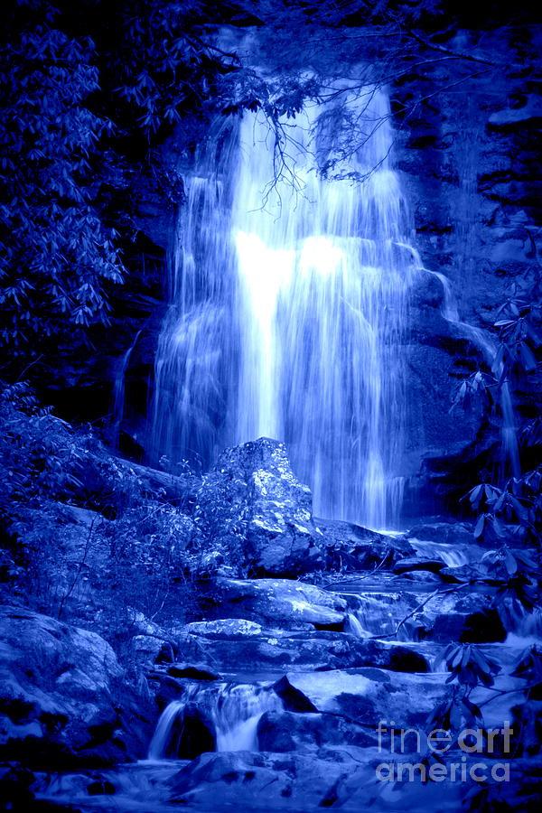 Fall Hills Wallpaper Blue Waterfall Photograph By Cynthia Mask