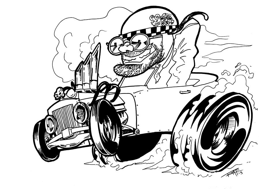 Burn Out Drawing by Big Mike Roate
