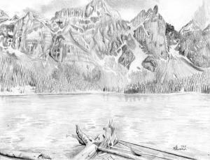 lake mountain drawing canadian kayleigh semeniuk drawings 7th uploaded january which