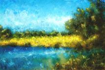 canola fields impressionist landscape