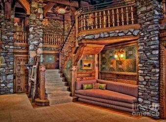 Castle Living Room Photograph by Susan Candelario