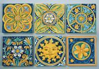 Ceramic Tiles In The Typical Caltagirone Style Ceramic ...